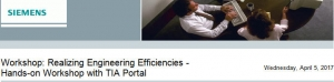 Workshop: Realizing Engineering Efficiencies - Hands-on Workshop with TIA Portal