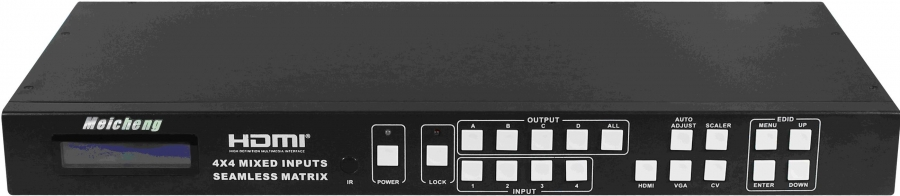 Meicheng Audio Video Co., Ltd. MX-1004VW HDMI 4 X4 Mixed Inputs Seamless Matrix Switcher - MX-1004VW HDMI 4 X4 Mixed Inputs Seamless Matrix Switcher by Meicheng Audio Video Co., Ltd.