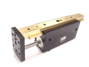 Pneumatic Linear Actuator Framing And Guarding - AGI Miniture Pneumatic Slide by AGI American Grippers Inc