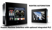 Plc Programmable Logic Controllers - HMI-PLC Combo Interface Screen by Rohtek Automation