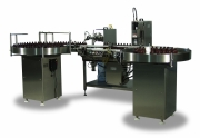 Liquid Filling Machine All - Semi-Auto Liquid Fill And Cap by Intellitech, Inc.