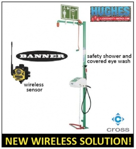 Cross Company Pairs Hughes Safety Showers And Banner Wireless Monitors