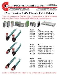 Free Industrial Cat5e Ethernet Patch Cables